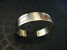 Multi-Metal Inlay Brass Copper Stainless Bracelet Bangle