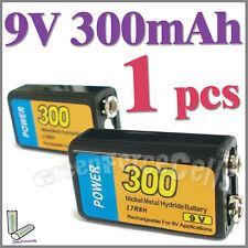 1 x 9V 9.0 V 300mAh Ni-MH Rechargeable Battery Power