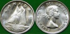 1953 Canada Silver No Shoulder Fold Dime Graded as Brilliant Uncirculated