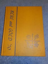 1970 COLUMBIAN HIGH SCHOOL Tiffin Oh YEARBOOK Annual BLUE AND GOLD