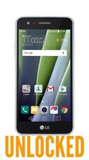 """LG Risio 2 Unlocked New 4G LTE Speed GSM 16GB Quad Core 5"""" Android 6.0.1 Silverk"""