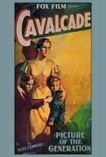 CAVALCADE Movie POSTER 27x40 Diana Wynyard Clive Brook Herbert Mundin Una