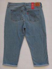 Levis Capri Jeans mujer talla 32x21 Denim Azul Corto Con vuelta