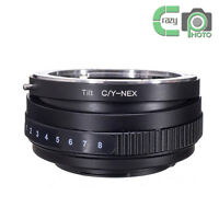 CY-NEX Tilt Adapter for Contax Yashica C/Y Lens to Sony E NEX3 NEX5 NEX7 NEX-5N