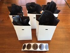 "5 Pandora Charm Pop Up Pan Boxes Iconic Crown ""O"" Tissue Paper & Pandora Sticker"