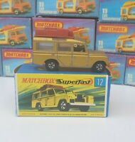 Vintage Matchbox Lesney No 12 Land Rover Safari Gold