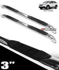 """FOR 2012-2015 HONDA CRV CR-V 3"""" CHROME SIDE STEP NERF BARS RAIL RUNNING BOARDS"""