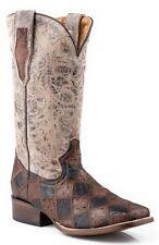 ROPER - Men's Sq Toe Ostrich Skin Patchwork Boots - ( 09-020-6502-0436 ) - 10D