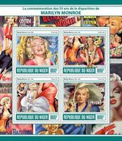 Niger - 2017 Actress Marilyn Monroe - 4 Stamp Sheet - NIG17317a
