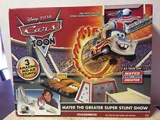 Disney Pixar Cars TOON Mater The Greater Super Stunt Show Playset NIB