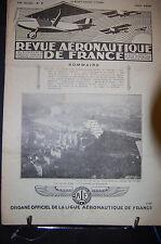 revue aéronautique de france , AVIATION  1929; Juin N°6 , SOMMAIRE VOIR PHOTO.