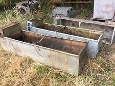 Large Vintage Galvanised cattle Water Trough / tank Planter x three