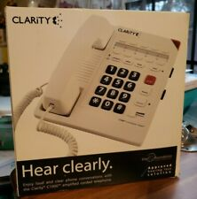 New Clarity C1000 White Corded Amplified Telephone - The Ear Foundation