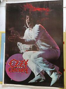 "RARE OZZY OSBOURNE 1981 VINTAGE ORIGINAL MUSIC POSTER 24""x34"" not a reprint"