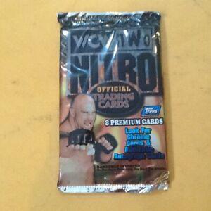 1999 Topps WCW NWO Nitro WRESTLING 2 FACTORY SEALED BOOSTER PACKS BRAND NEW