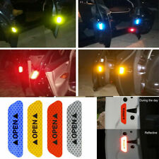 4PCS Auto Car Door Open Sticker Reflective Tape Safety Warning Decal Accessories