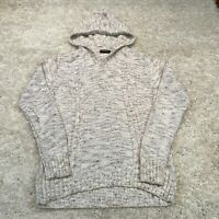 John Devin Mens Knitted Jumper Small White Hoodie Pullover