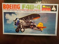 Vintage Monogram Boeing F4B-4 Navy Biplane Fighter 1/72 Scale Model Kit, Sealed