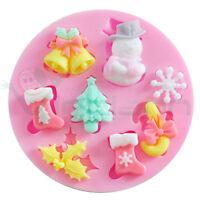 Stampo silicone Decorazioni Natalizie fondente pasta zucchero Cake Design Natale