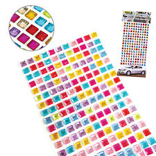 Mixed color crystal sticker,self-adhesive jewelry rhinestones-1sheet (square)
