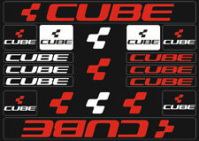 Cube Mountain Bicycle Frame Decals Stickers Graphic Adhesive Set Vinyl Red