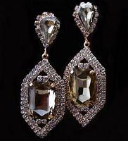 Luxus Ohrringe/Ohrstecker Vivienne, Braut Schmuck, Hochzeit, Gold pl., Strass