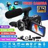 WIFI Ultra HD 1080P 30MP 16X 3'' LCD Digital Camcorder Video USB DV Camera + Mic