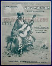 TANGO ARGENTIN JUAN CASTRO PARTITION CIMARRON MATE AMARGO CRIOLLO SARRABLO 1913