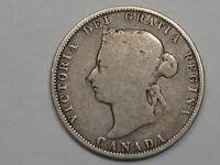 1874-H Canadian 25 Cent Quarter. CANADA 25¢.  #25