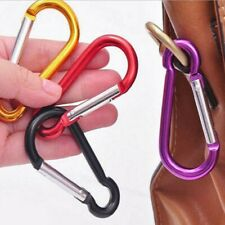 New listing Aluminium Safety Buckle Climbing Hook Camping Hiking Outdoor Tool Safety Buckle