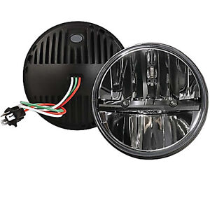 "Octane 7"" inch Round Chrome Black Dual Low/Hi HID LED Octane Headlights Pair"