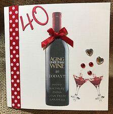 handmade personalised 30th/ 40th/50th/ birthday card women/men