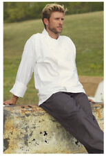 One Lot of 5 White Chef Coats, Mesh Back, Long Sleeve. Size: Large - 481