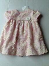 BNWT Mayoral Baby Girls Pink Lace Dress Age 6-9 Mths 2851 Christening Wedding