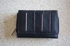 Golunski Very Soft Black With Pink & Mauve Edging Leather Purse