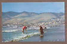 VINTAGE POSTCARD UNUSED CLAMMING AT PISMO BEACH CALIFORNIA