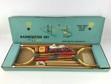 Vintage Regent Badminton Set Complete With Box