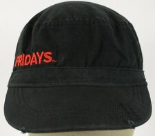 Black TGI Fridays uniform Cadet hat cap stretch back