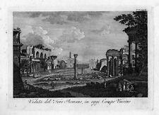 fine '700 ROMA Veduta Foro Romano - incisione in rame originale