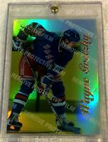 WAYNE GRETZKY 1996 SELECT CERTIFIED MIRROR GOLD FOIL WITH COATING #4 RANGERS