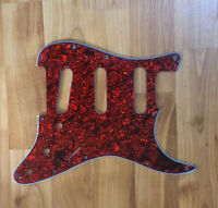 NEW Red Pearloid SSS Stratocaster PICKGUARD for Fender Strat Single Coil Pickups