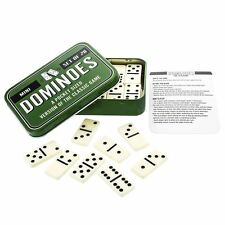 Purple Donkey Pocket Sized Dominoes Traditional Travel Game in a Tin