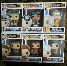 Back To The Future Funko Pop Collection. Doc Emmett Brown Marty Mcfly. Pop Vinyl