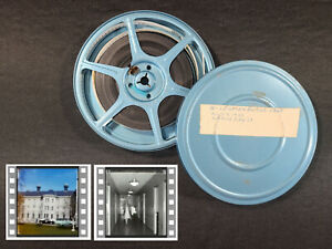8MM Home Movie Vintage Travel 1963 Augusta State Hospital Maine Mental Facility+
