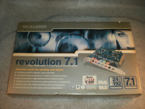 New M-Audio Revolution 7.1 Professional PCI Rev 2 Surround Sound Card