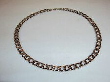 Necklace ~ 21 Inch Chain w/Heavy Metal Curb Style Links ~ NEW #5410170