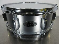 """Ddrum D2 Snare Drum - 14 X 5.5"""" - Silver Sparkle w/ Chrome Hardware -  8 Lugs"""