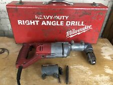 """Milwaukee 1201-1 Heavy Duty Corded 1/2"""" Right Angle Drill in Case USA"""