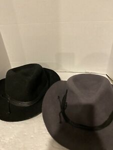 Vince Camuto Set Of 2 Hats, Grey (New) And Black (Used)