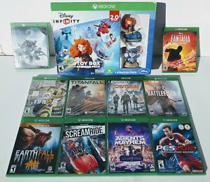 Xbox One S & X lot Bundle of 11 games Battlefield Destiny FIFA PES Disney 2 New